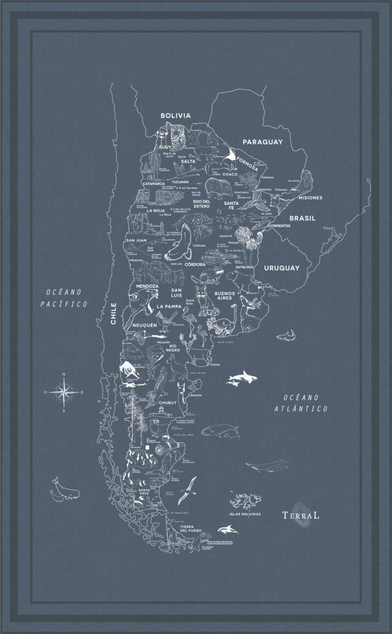 Alfombra Parques Nacionales - con marco 13
