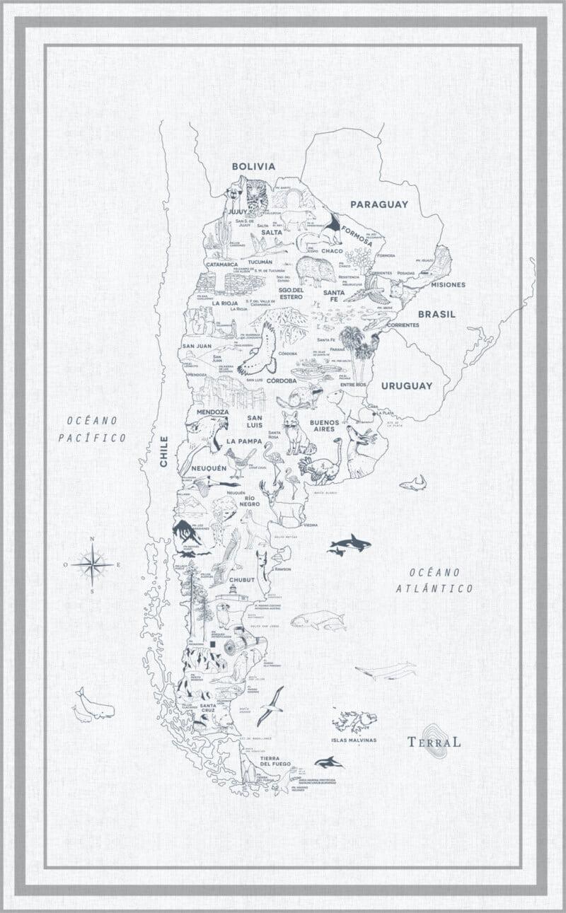 Alfombra Parques Nacionales - con marco 15