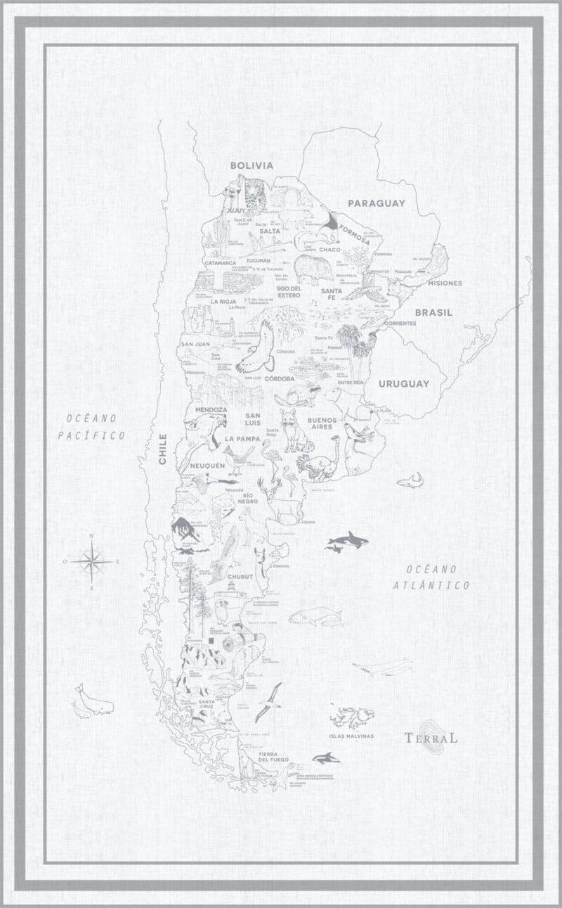 Alfombra Parques Nacionales - con marco 16