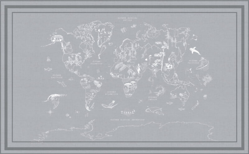 Alfombra Surfmap - con marco 5